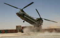 Image of Medical Emergency Response Team helicopter landing