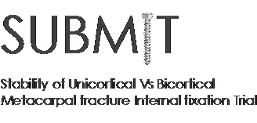 SUBMIT: Stability of Unicortical Vs Bicortical Metacarpal fracture Internal fixation Trial