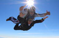Professor Tony Belli skydive