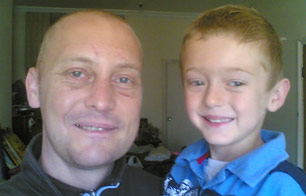 Mr Yardley with his son
